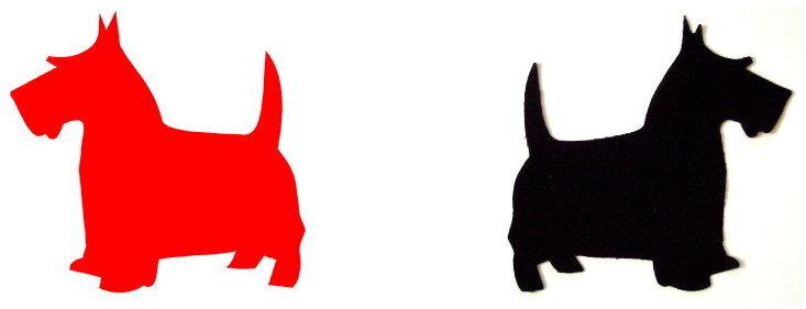 scottie dog template set applique stencil pattern ebay